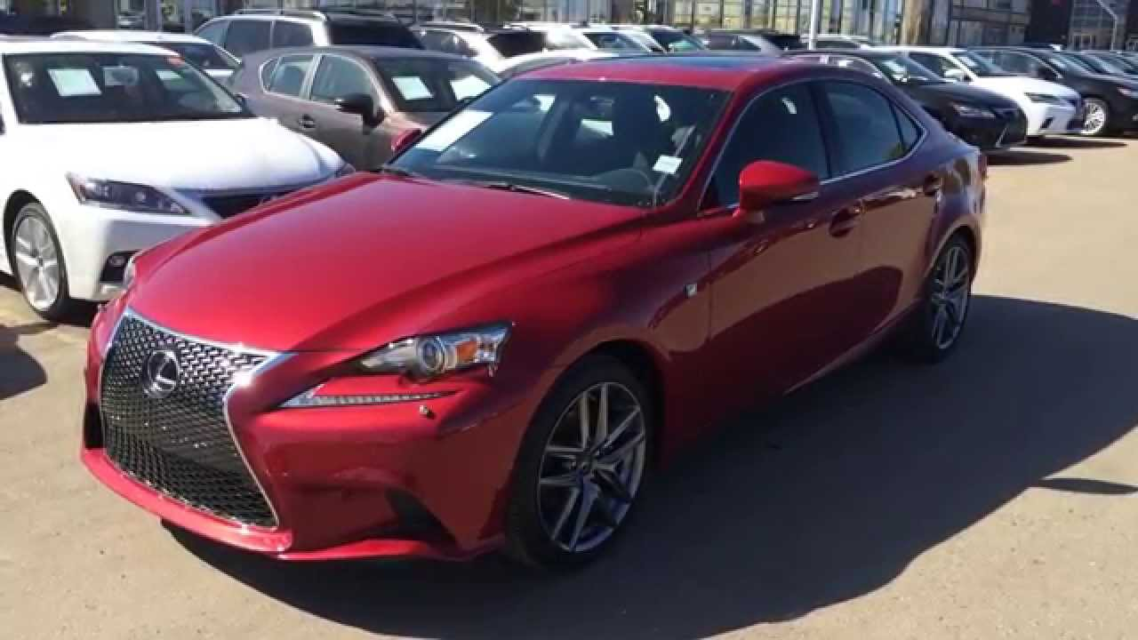 2014 Lexus IS 250 AWD Premium F Sport Package Review In Matador Red On  Black   YouTube Awesome Ideas