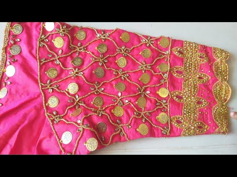 How To 2 By 4 Hands Work #Lakshmi Kasu Work #stitching Chesina # Blouse Ki Work Normal Needle