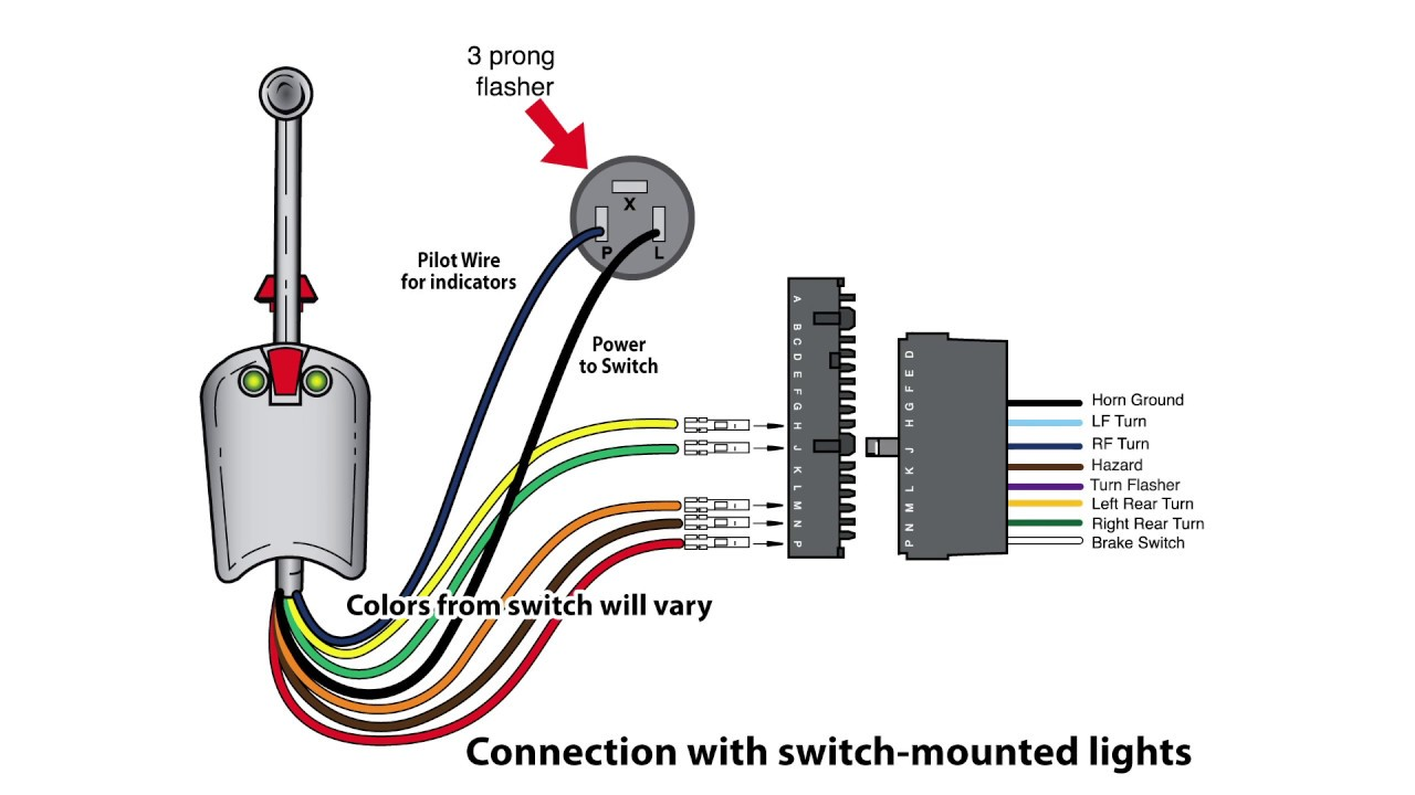 universal bolt on turn signal switch wiring - youtube universal directional switch wiring diagram