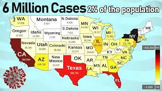 Coronavirus Spread in the USA - 6 Million Cases.