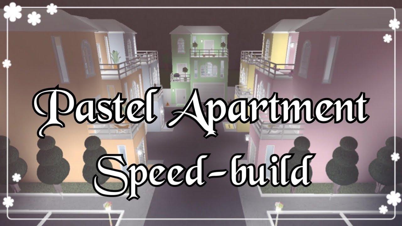 Bloxburg Pastel Apartment Speed Build Youtube
