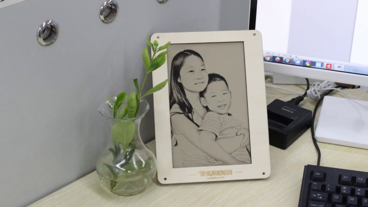 How To Make The Wooden Photo Frame By Laser Cutter Youtube