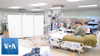 Crew Prepares US Navy Hospital Ship for Patients in California