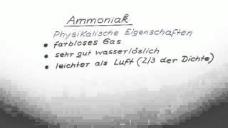 Ammoniak | Chemie | Allgemeine und anorganische Chemie