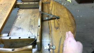 "Skips Custom Refinishing,  Part 1 Of Remodeling A 42"" Drop Leaf Table."