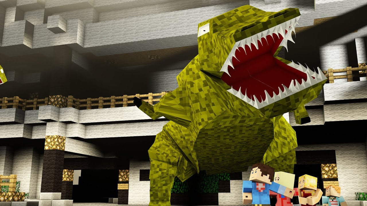 how to make jurassic park in minecraft