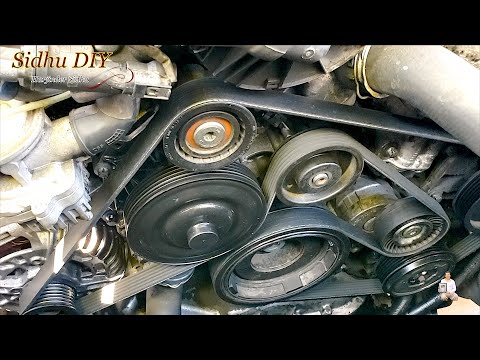 How To Replace Serpentine Belt on Mercedes