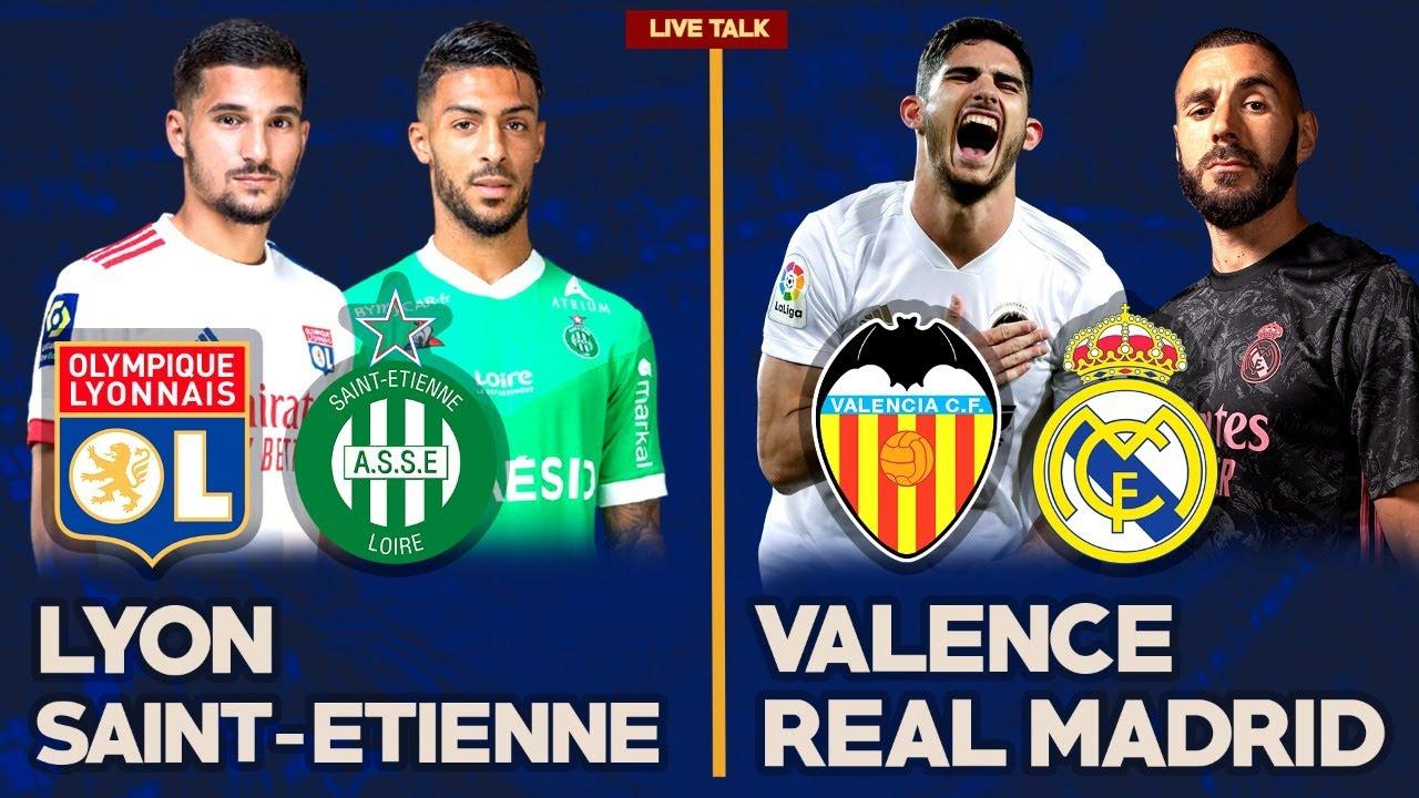 Match Live Direct VALENCE REAL MADRID LYON SAINT ETIENNE LIGA LIGUE FOOTIME YouTube