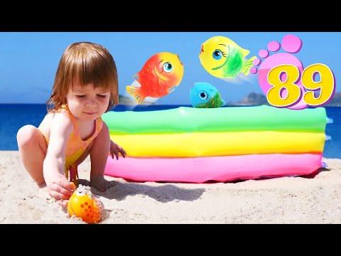 Привет, Бьянка и мама Маша Капуки на пляже в Турции - Игры с детьми