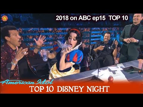 Katy Perry Drinks from Cinderella Glass Shoe / Katy's Shoey Disney Night  American Idol 2018 Top 10