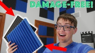 Installing Acoustic Foam WITHOUT DAMAGING YOUR WALLS! || HOW-TO