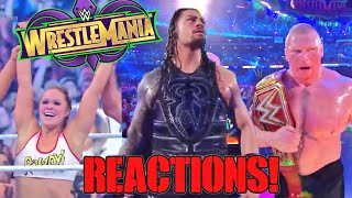 WWE WRESTLEMANIA 34 LIVE REACTIONS RESULTS AND REVIEW!