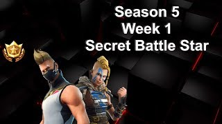 Fortnite Season 5, Week 1 Secret Battlestar