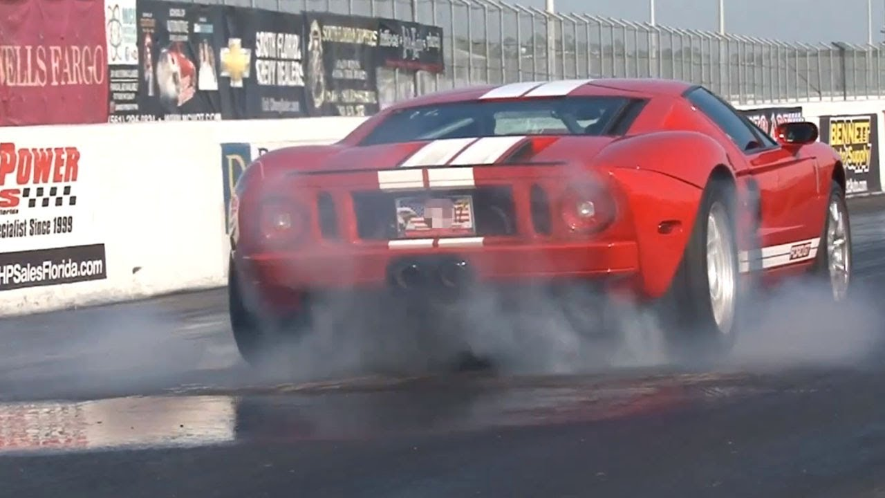2005 Ford GT vs 2010 Nissan GT-R Drag Racing 1/4 Mile - YouTube