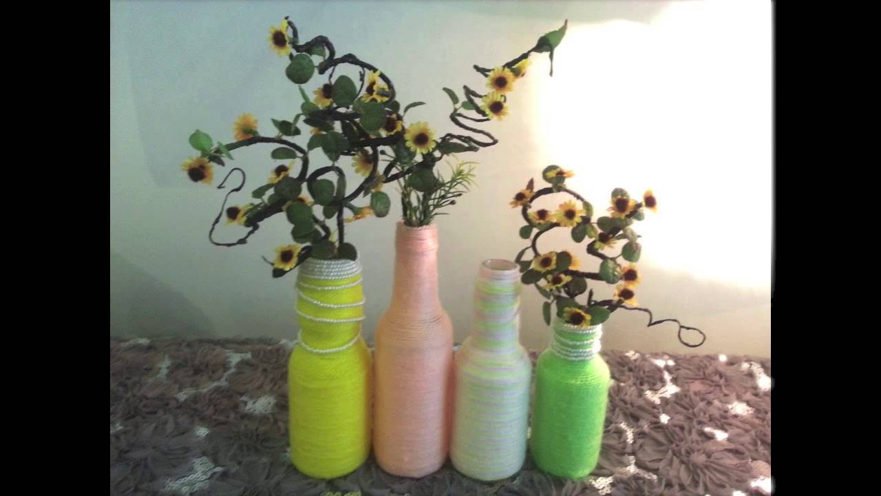 Diy Home Or Room Decoration Recycle Old Bottle Into