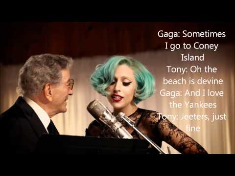 Tony Bennett and Lady Gaga The Lady Is A Tramp lyrics