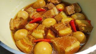 thịt kho tàu không dùng nước dừa vẫn ngọt thanh đậm đà