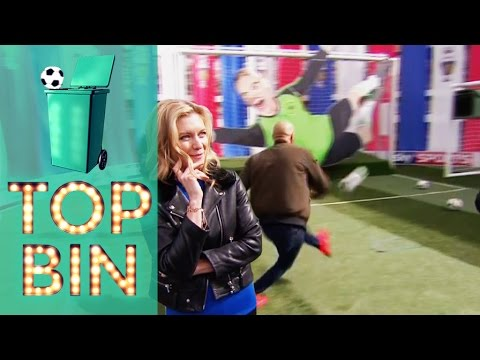 Top Bins | Rachel Riley shows off her football knowledge. Louis Saha and Leon McKenzie shoot