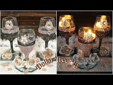 diy-dollar-tree-bling-candle-holder-|-glam-wedding-centerpiece-ideas-2019