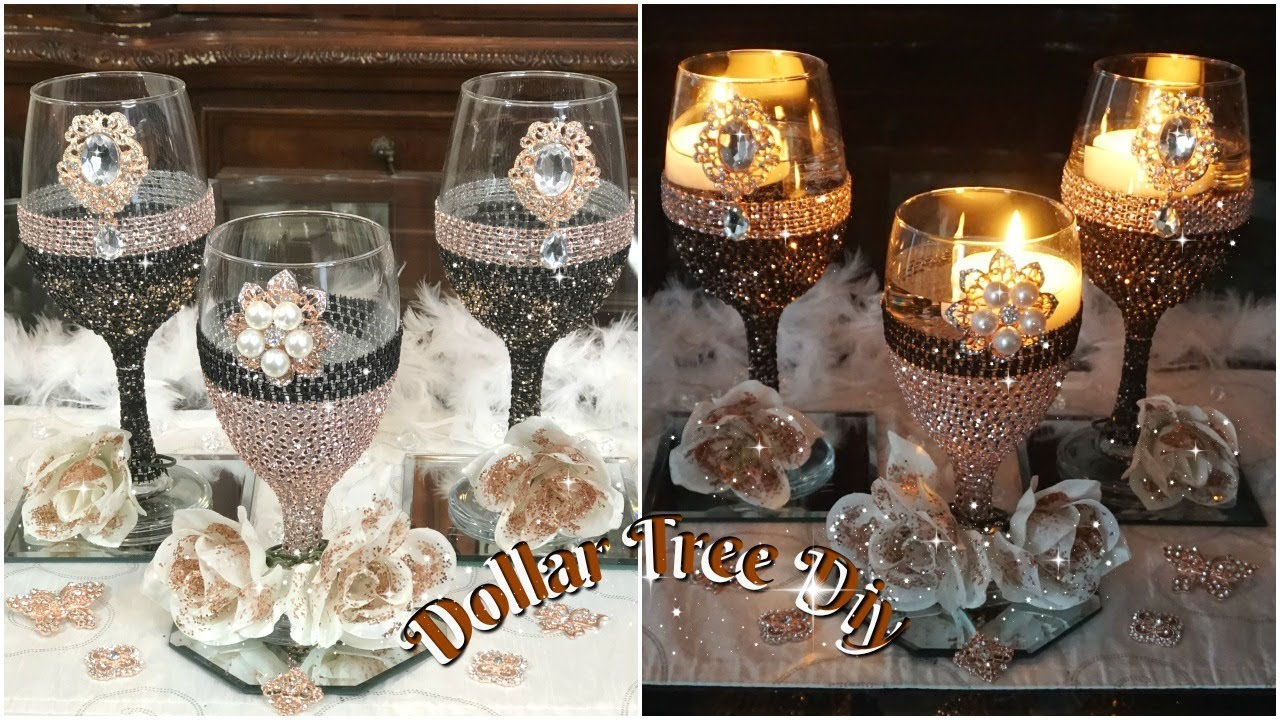 DIY DOLLAR TREE BLING CANDLE HOLDER