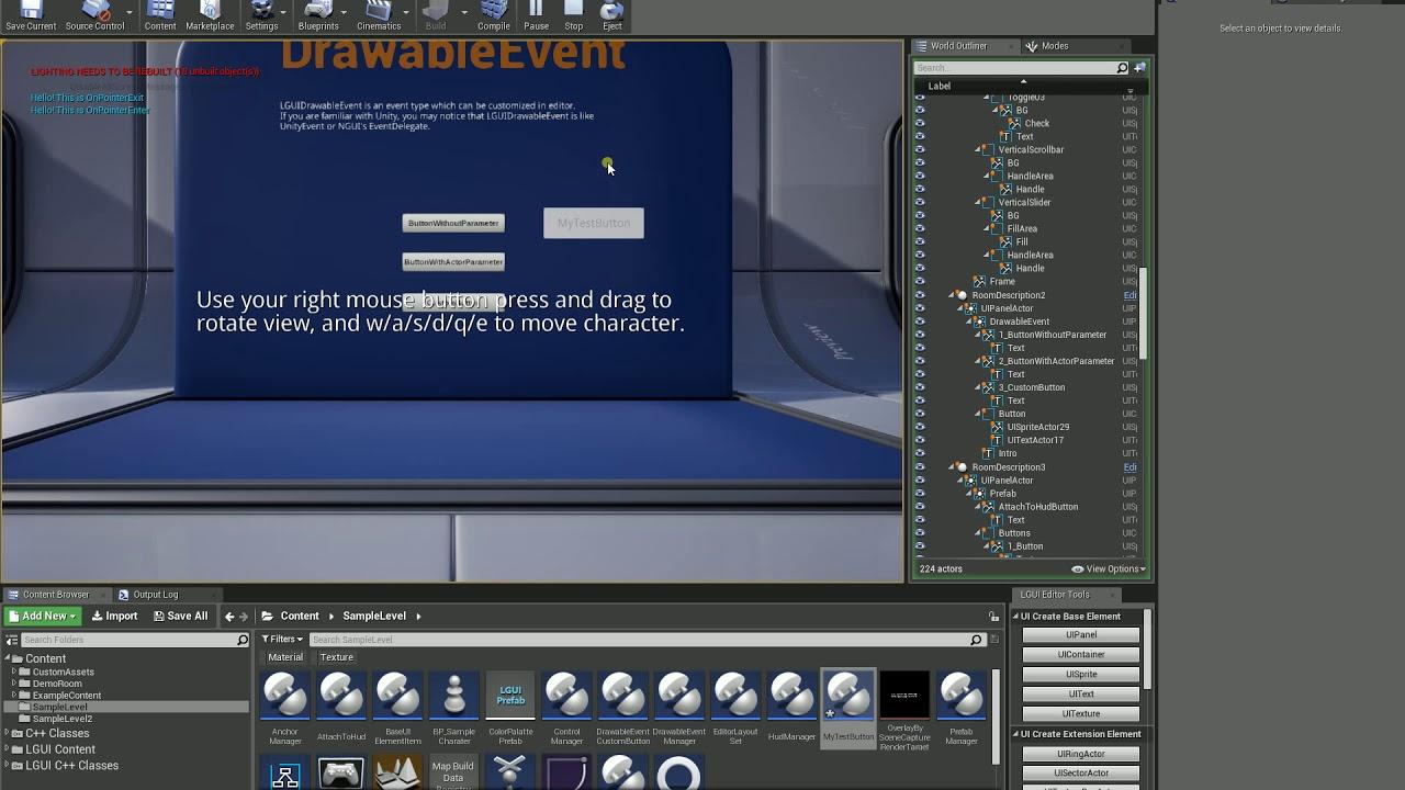 LGUI (Lex GUI) - True 3D UI System, Event Framework, Prefab Workflow