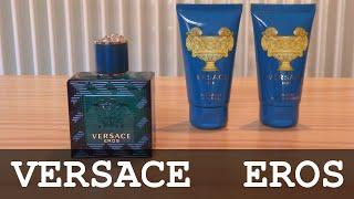 Versace Eros Gift Box   Eau De Toilette - After Shave - Shower Gel   Unboxing
