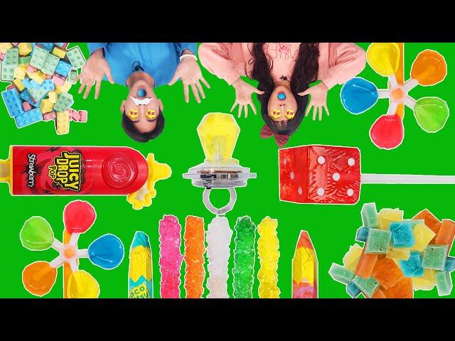 Mukbang Candy Race 젤리 캔디 대결 먹방 신맛 단맛 캔디 먹는 유형