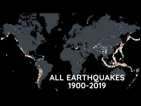 Every Earthquake (1900-2019)