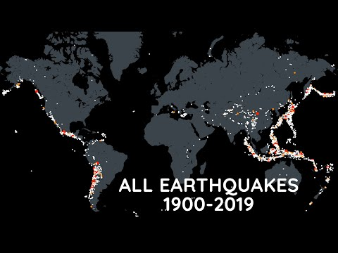 Every Earthquake from 1900-2019