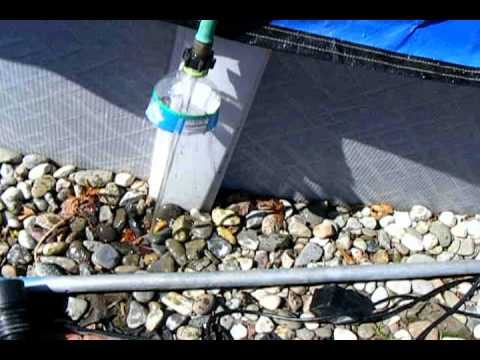 How to pump water from pool cover