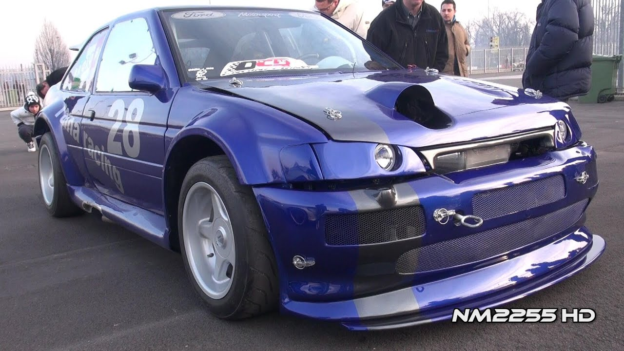 800bhp Ford Escort RS Cosworth Huge Revs and Flame! - YouTube