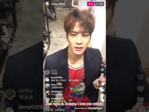 [ENG SUB] 170214 GOT7 Jackson KWAVE Instagram Live