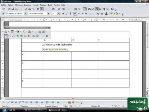 Utiliserer un tableau avec openoffice writer youtube - Comment faire un organigramme sur open office ...