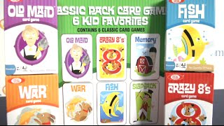 Classic Pack Card Games 6 Kid Favorites from Poof-Slinky
