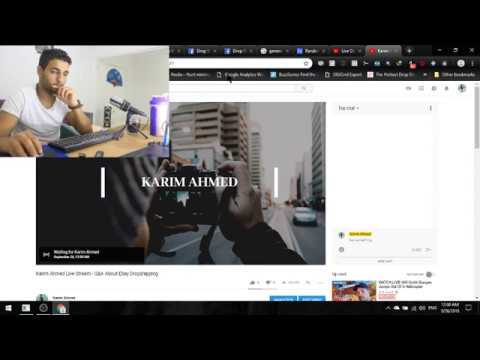 Karim Ahmed Live Stream - Q&A About Ebay Dropshipping