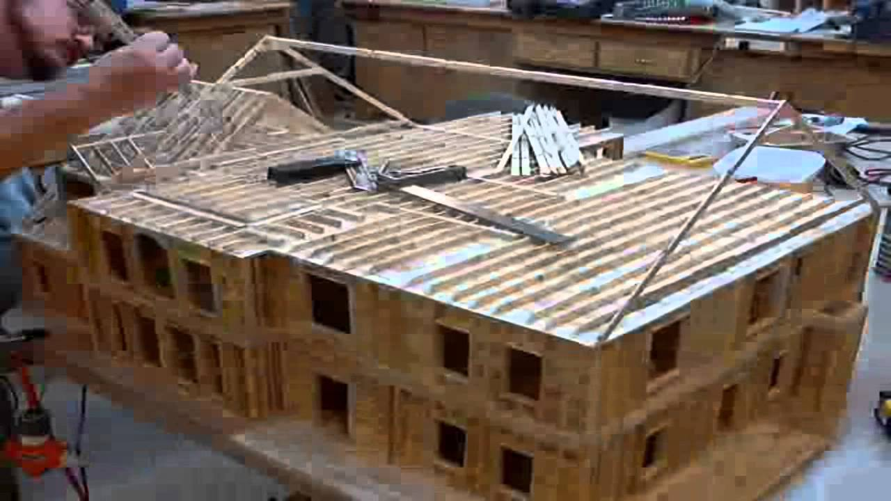 10 popsicle house build time lapse roof and gable wall framing youtube - Build wood roof abcs roof framing ...