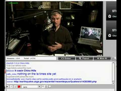 Leo Laporte - Earthquake During Security Now Podcast