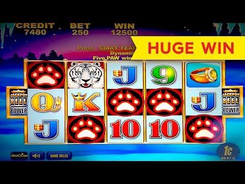 White Tiger Slot - 5 SYMBOL TRIGGER - BIG WIN BONUS!