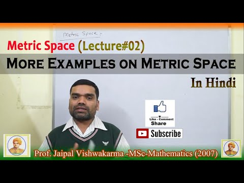 Metric Space - More Examples on Metric Space In Hindi