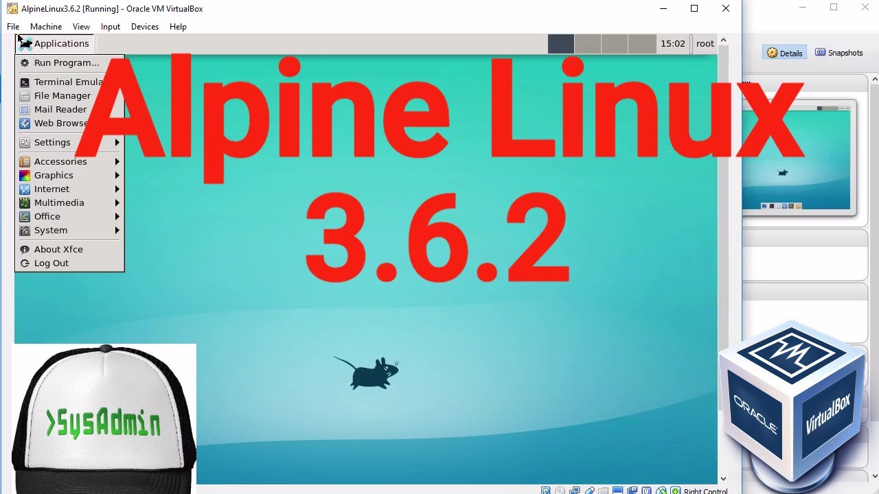 Alpine Linux 3 6 2 Installation + XFCE Desktop Environment on Oracle  VirtualBox [2017]