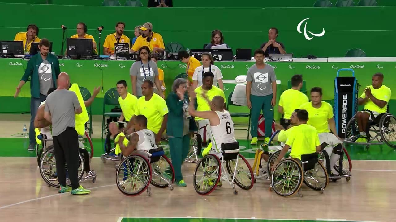 wheelchair basketball brazil vs iran men s preliminaries rio