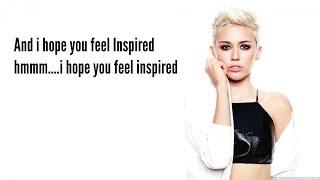 Miley Cyrus -  Inspired (Lyric Video)