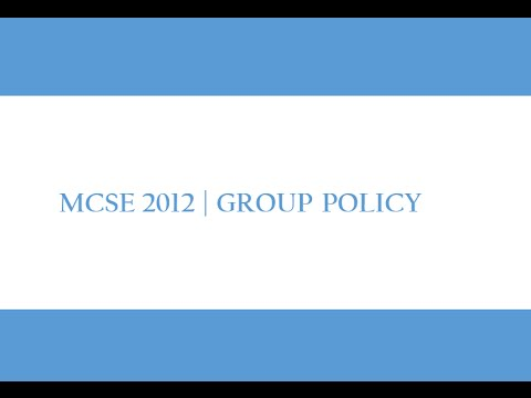 Group Policy Management in Urdu/Hindi _Part1