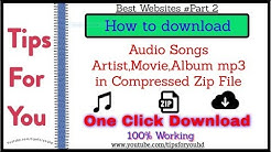 Best Websites for Download mp3 Songs Album in zip file In #oneclick | Best websites part-2 #music