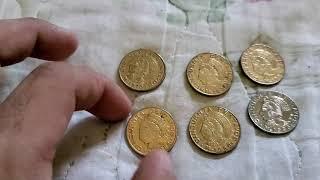 Moneda de cincuenta CENTAVOS MAS ANTES DE ORO