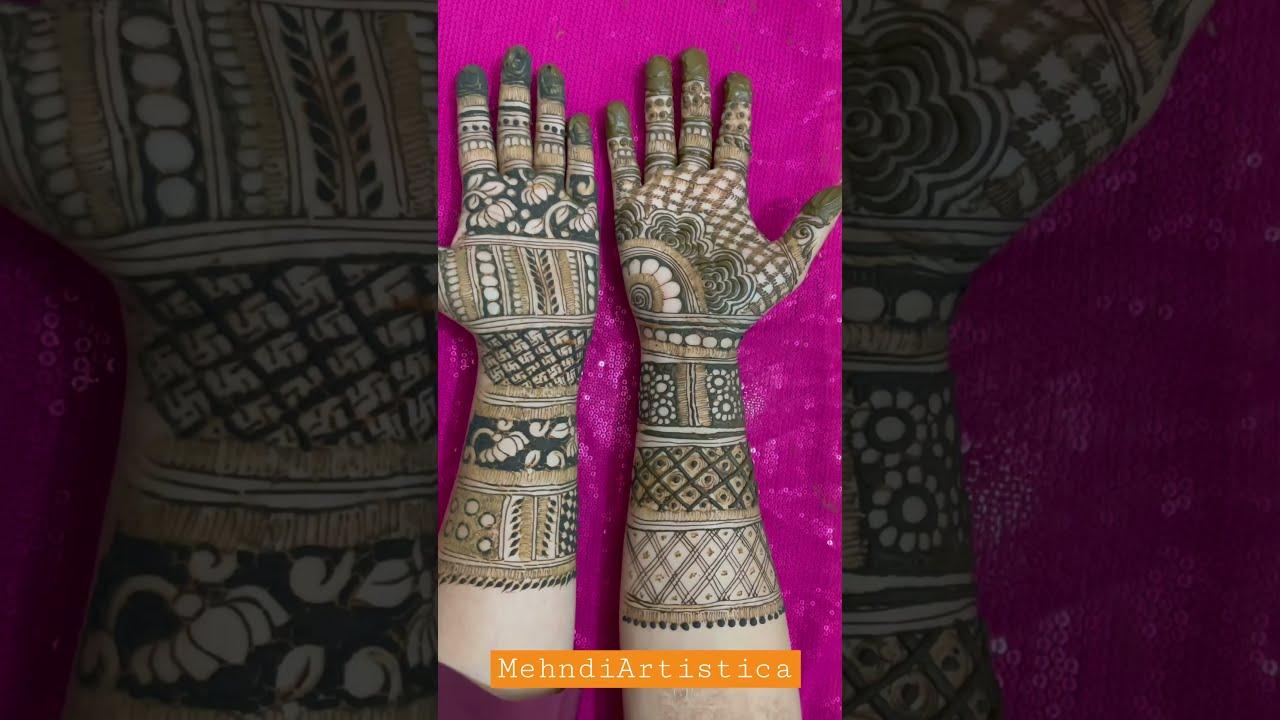 Beautiful henna mehndi design 4 both the hands|2021 best beginners henna mehendi design for wedding