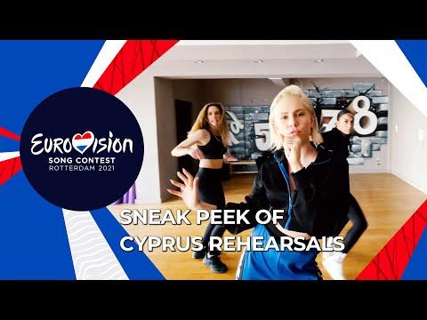 Exclusive Sneak Peek of Elena Tsagrinou's Rehearsal  - El Diablo -  Cyprus 🇨🇾- Eurovision 2021