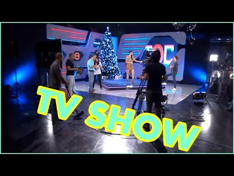 TV show studio camera, lighting technology setup