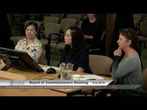 Prosper Portland Board of Commissioners 05/09/2018