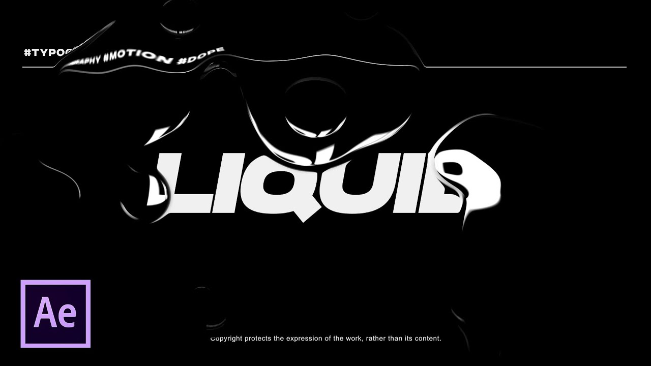Liquid Typography Animation in After Effects